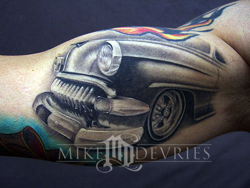 Tattoos - Car Front End Tattoo - 12676
